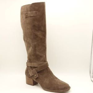 NWT UGG Bandara Knee High Grey Suede Leather Boots